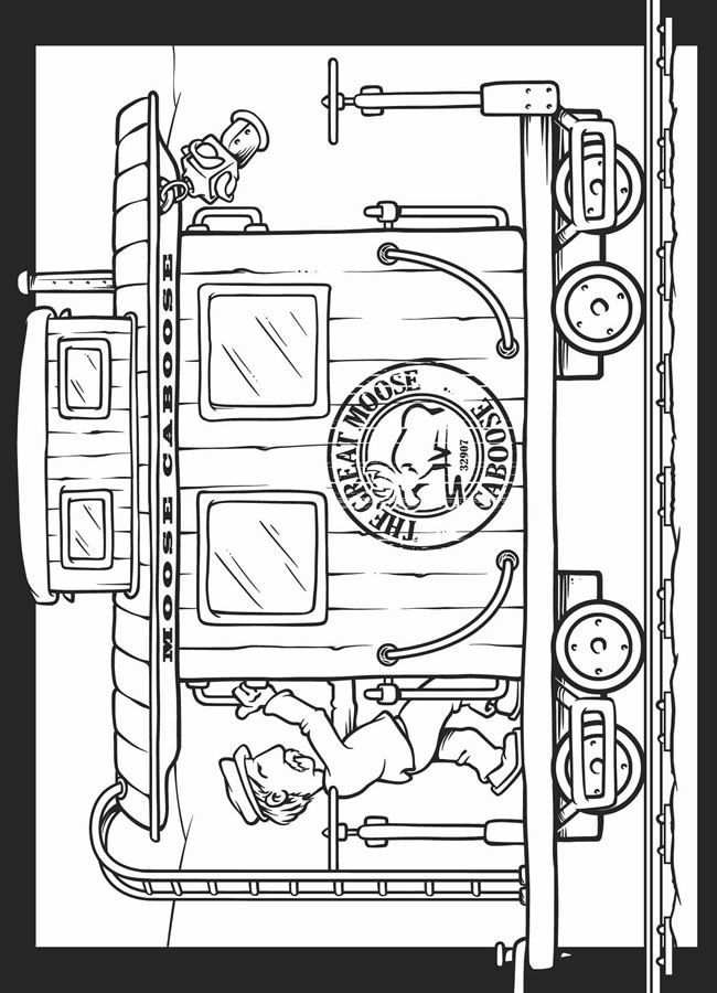 Kleurplaat Ouderwetse Treinwagon Kleurplaten Thema Vervoer