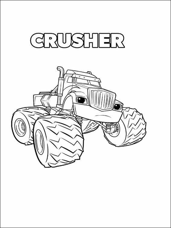 Blaze And The Monster Machines Coloring Pages 11 Kleurplaten 1
