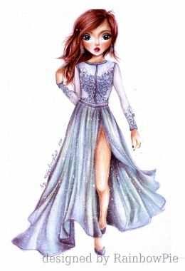 Enchanted Meiden Tekeningen Mode Jurken