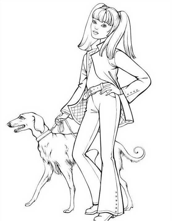 Topmodel Met Hond Topkleurplaat Nl