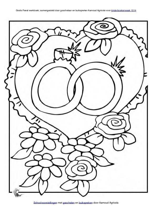 Kleurplaat Bruiloft Met Afbeeldingen Kleurplaten Kinderen