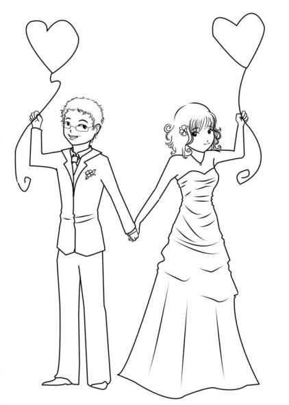 Kleurplaat Bruiloft Kleurplaten