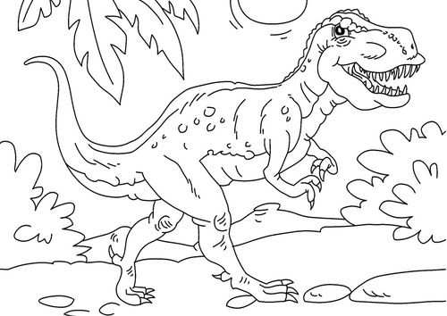 Coloring Page Dinosaur Tyrannosaurus Rex Dinosaur Coloring