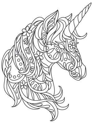 Fun Floral Shapes Add To The Whimsy Of This Bohemian Unicorn
