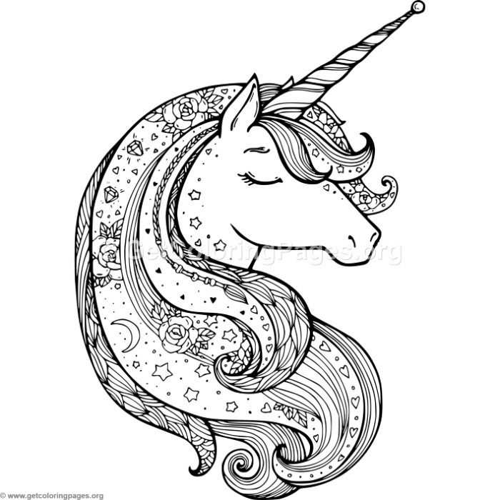 Free To Download Zentangle Unicorn Coloring Pages Coloring
