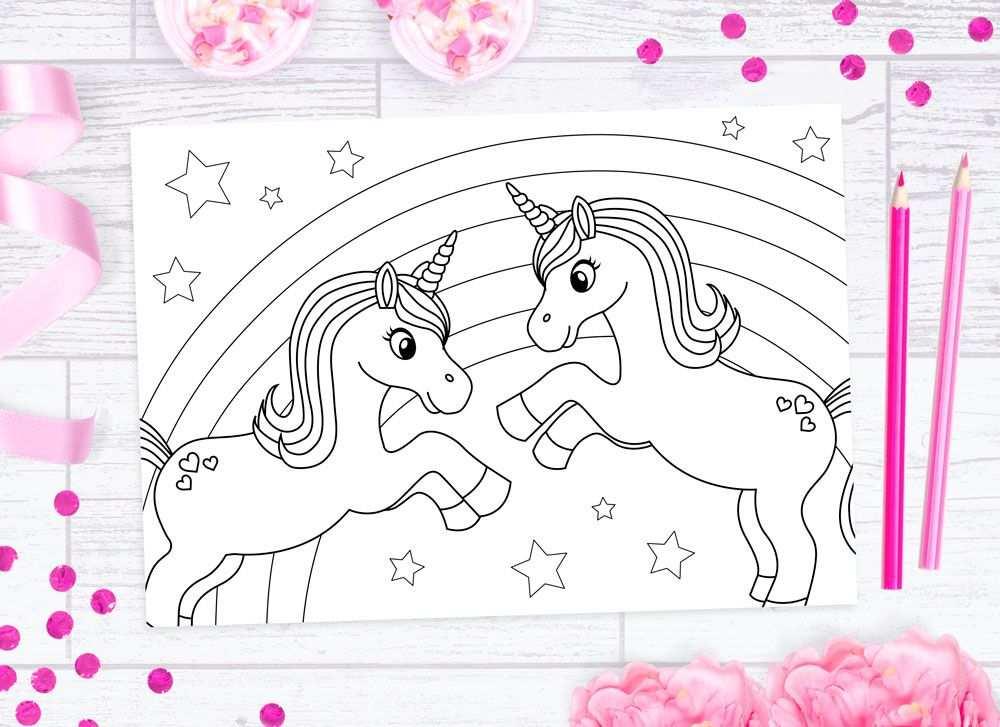 Free Unicorn Colouring Sheets Met Afbeeldingen Kleurplaten