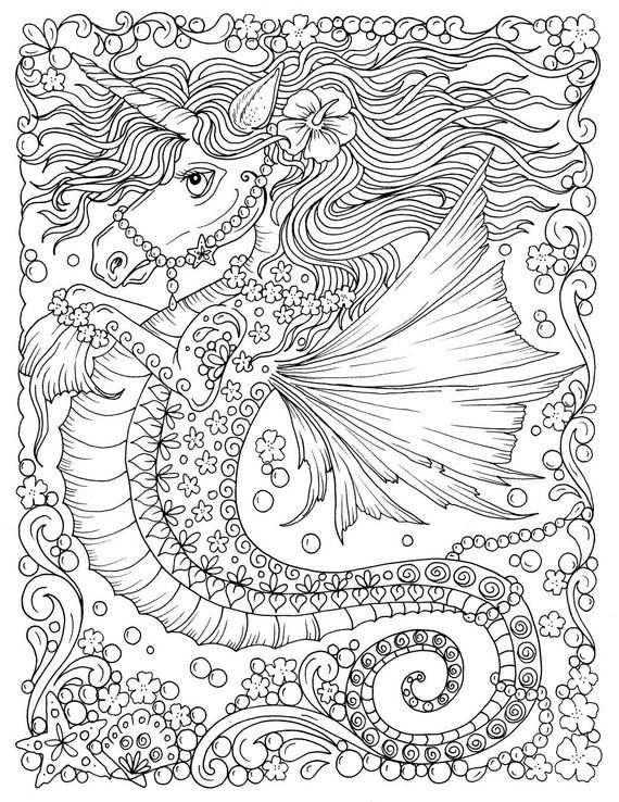 Fantasy Digital Download Printable Book Adult Coloring Coloring