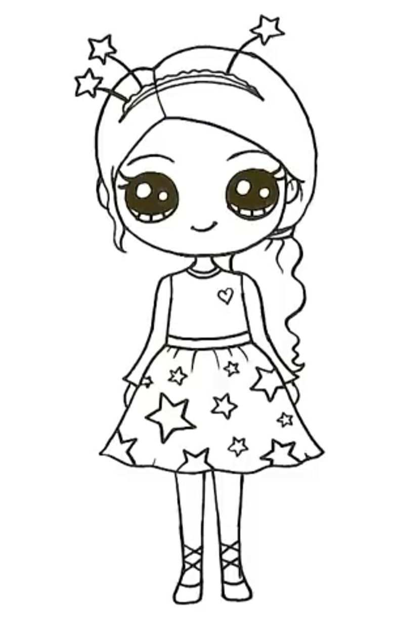 Pin By Kayla Stevens On Drawing Kawaii Girl Drawings Easy