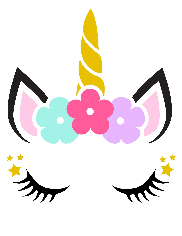 Unicorn Head Kleurplaten Eenhoorn En Verjaardag