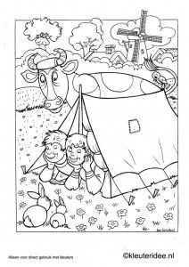 Kleurplaat Thema Camping 2 Kleuteridee Nl Preschool Camping