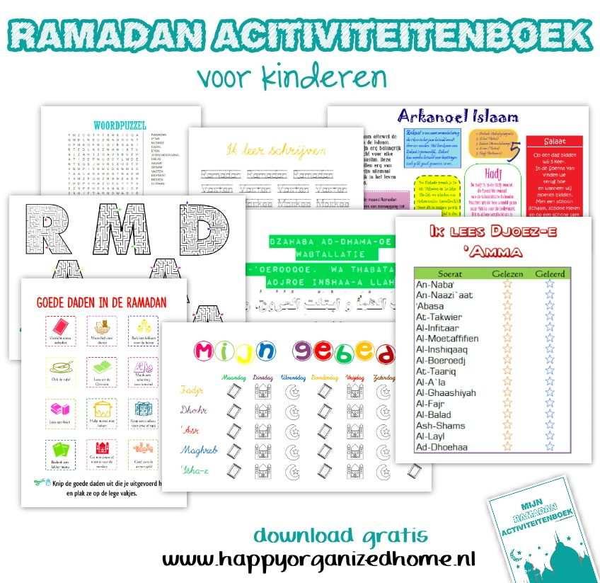 Ramadan Activiteitenboek Ramadan Voor Kinderen Kinderen