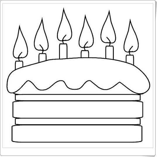 Taart Met Kaarsjes Kleurplaten Verjaardagskalender