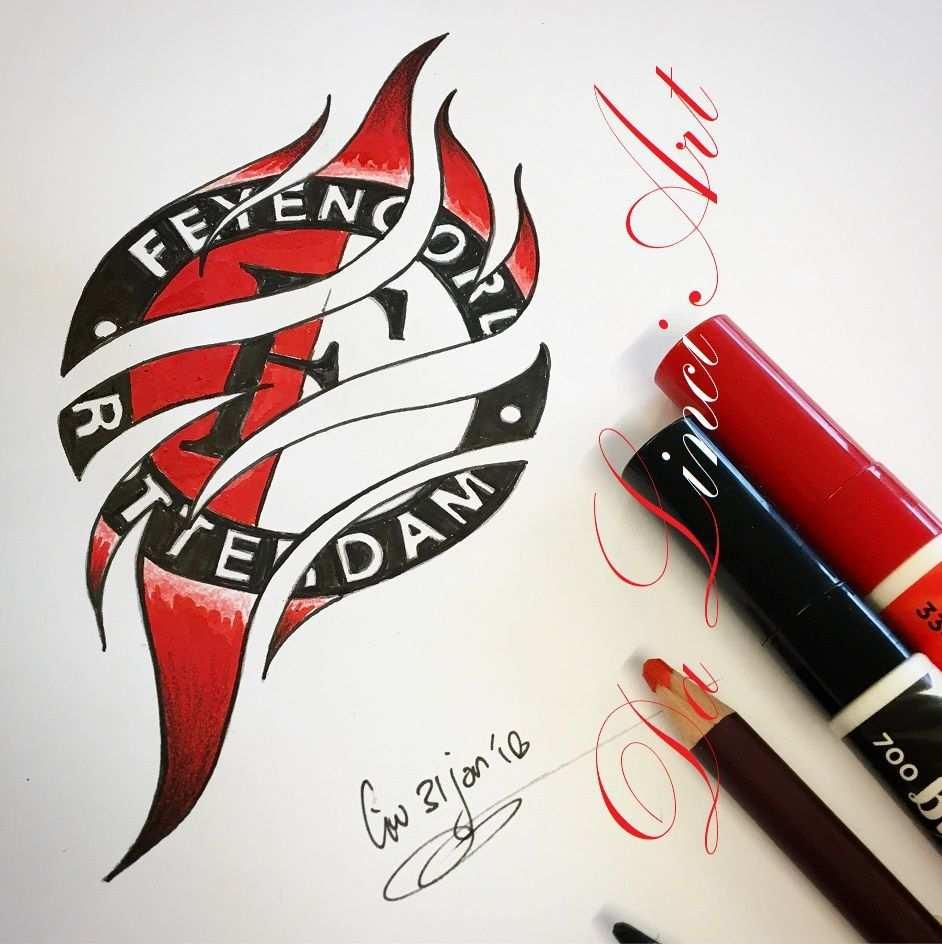 Feyenoord Tattoo Design Da Linci Art Www Dalinciart Nl