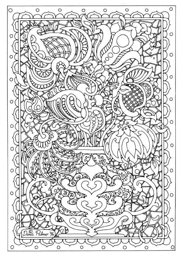 Coloring Pages Printables Flowers Kleurplaten Abstracte