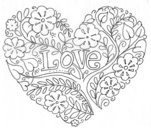 Valentine S Day Corazones Bordados Libro De Colores Mandalas