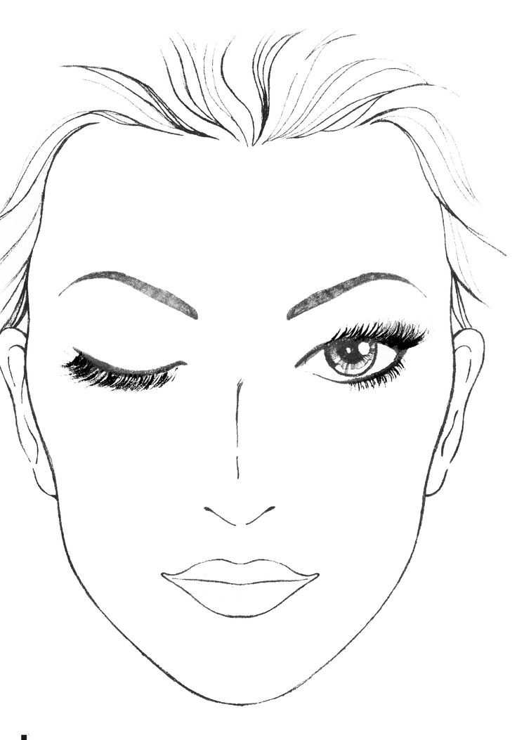 vrouw gezicht gezicht kleurplaat make up