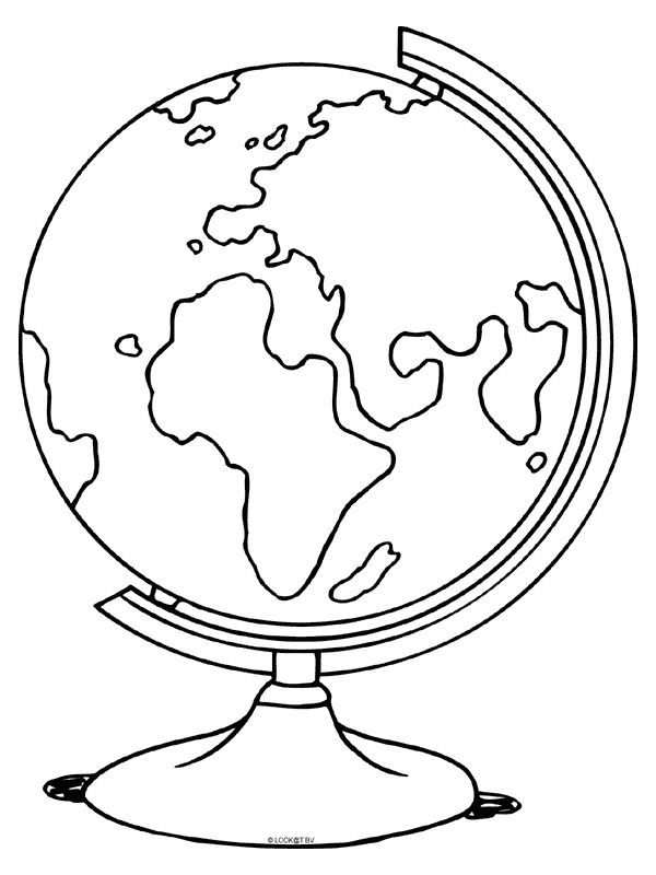 Kleurplaat Wereldbol Aardbol Atlas Kleurplaten Nl