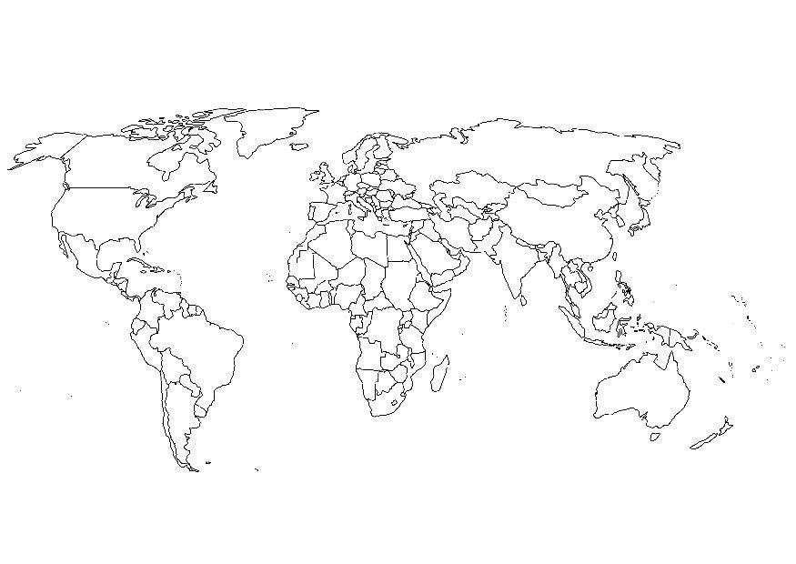 Kleurplaat Wereldkaart Gratis Kleurplaten Om Te Printen