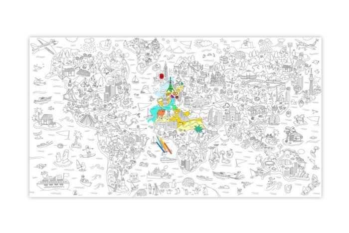 Omy Kleurplaat 1 8 X 1 M Atlas In 2020 Kleurplaten Kleuren