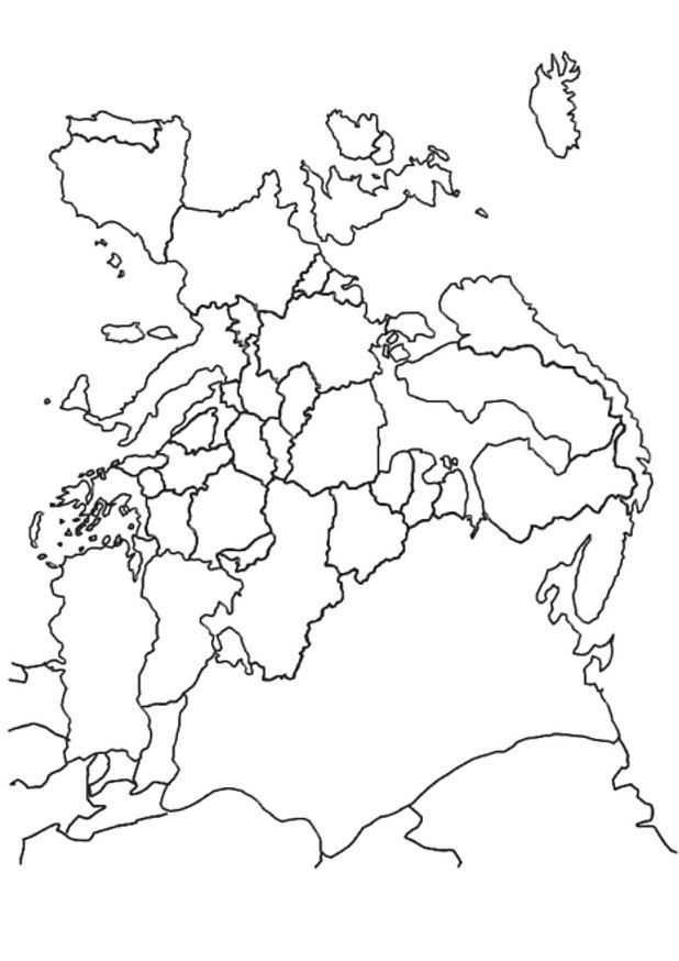 Kleurplaat Landkaarten Landkaart Europa Kleurplaten Europa Thema