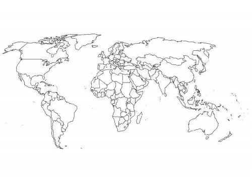 Kleurplaten Wereldkaart Met Afbeeldingen Wereldkaart