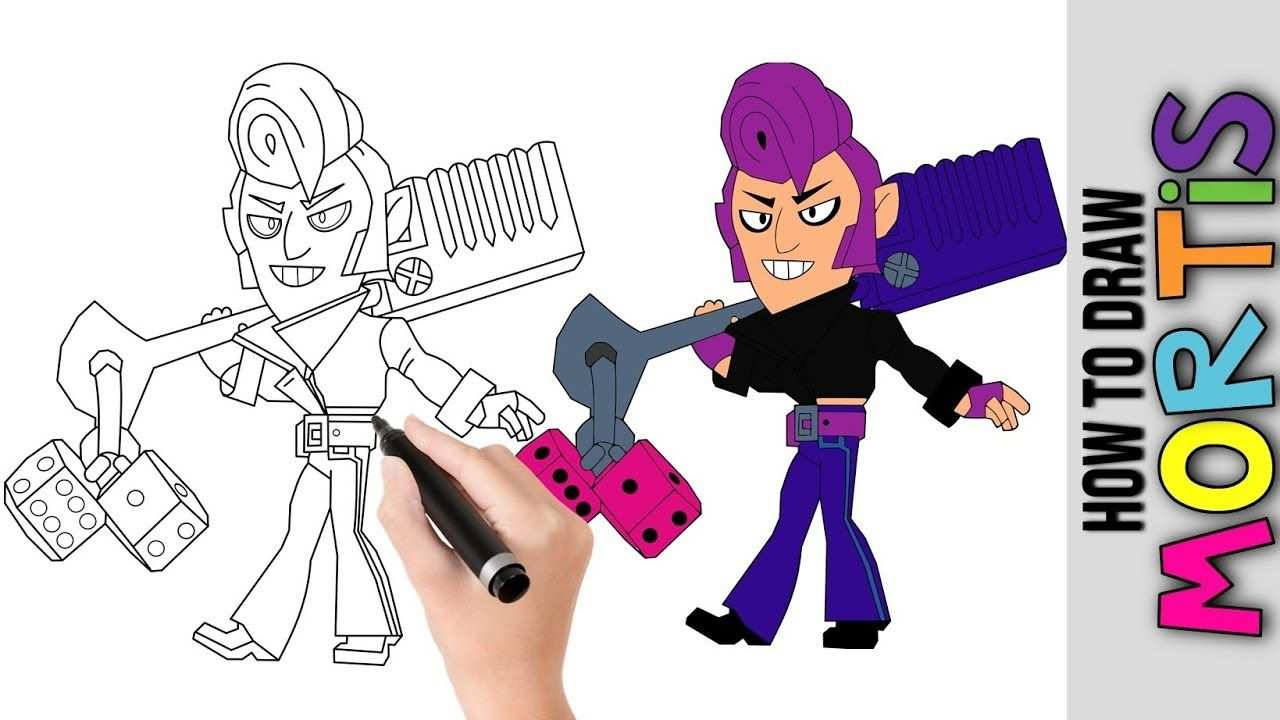 How To Draw Mortis From Brawl Stars Cute Easy Drawings Tutorial