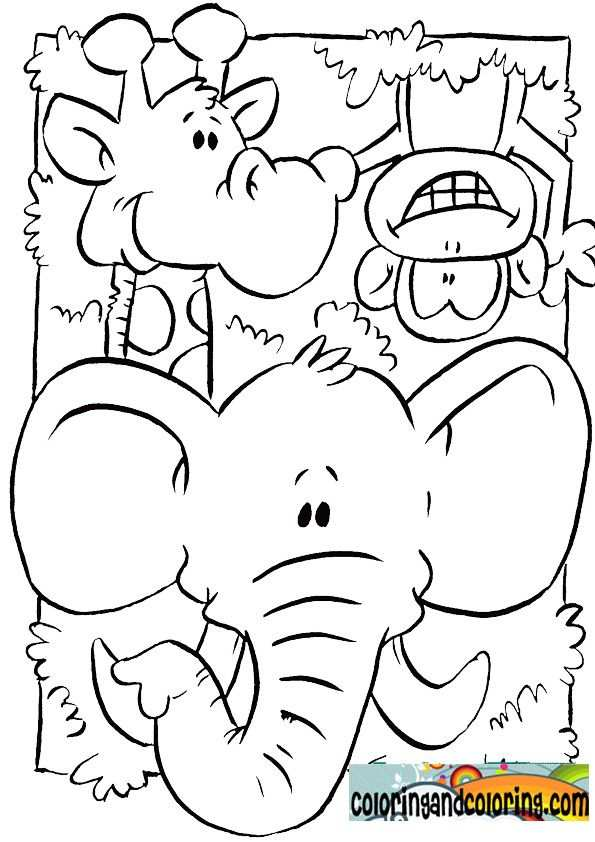 Jungle Animals Coloring Pages For Kids Met Afbeeldingen