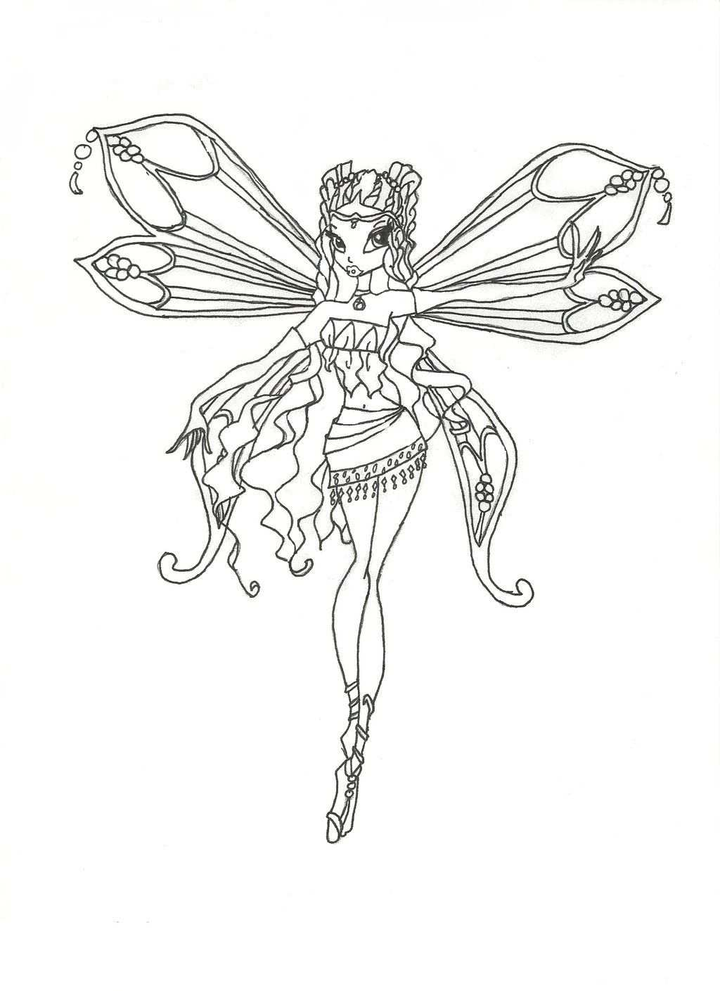 Winx Club Enchantix Layla Coloring Page By Winxmagic237 Deviantart