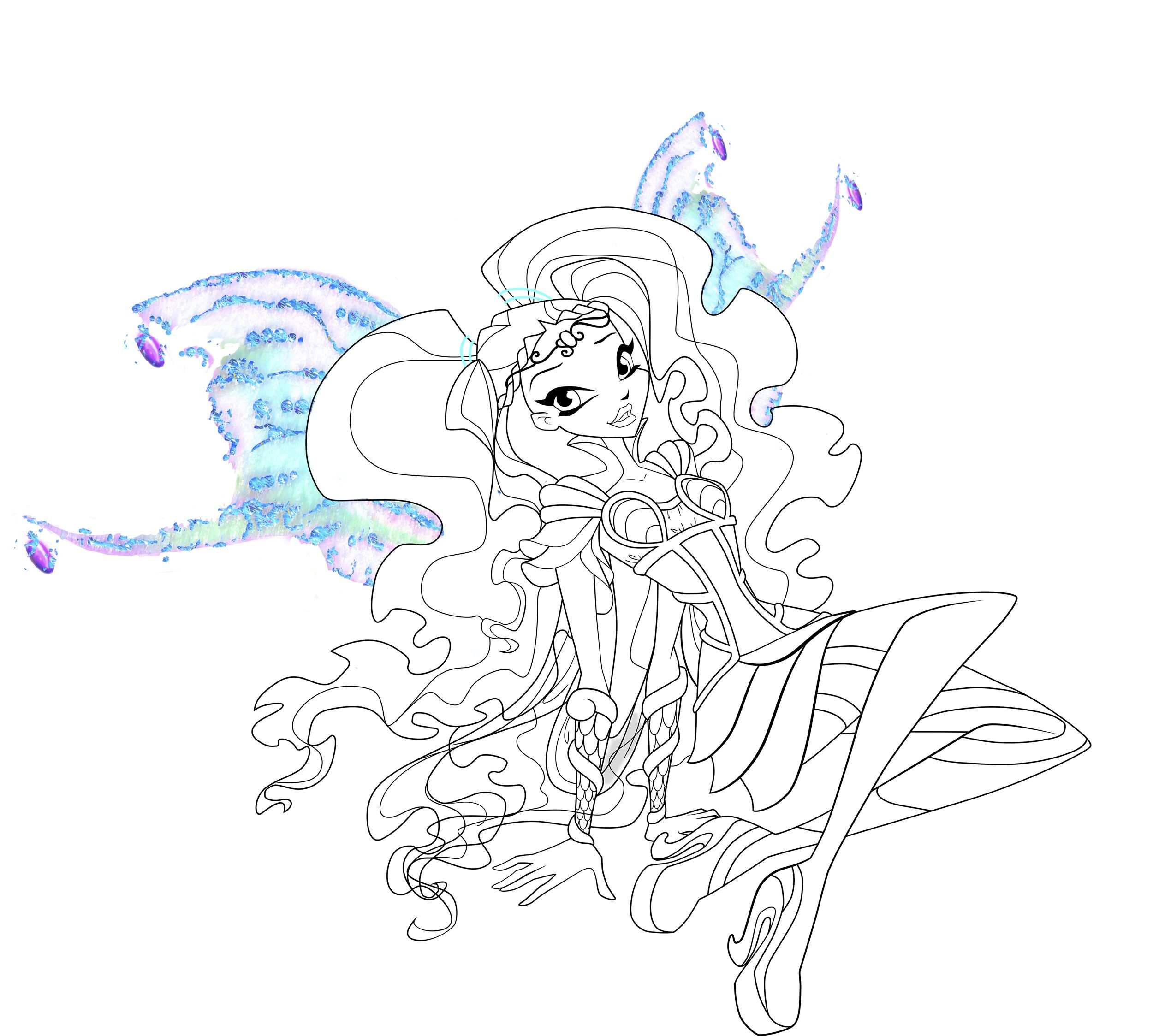 Winx Club Aisha Layla With Images Winx Club Coloring Pages