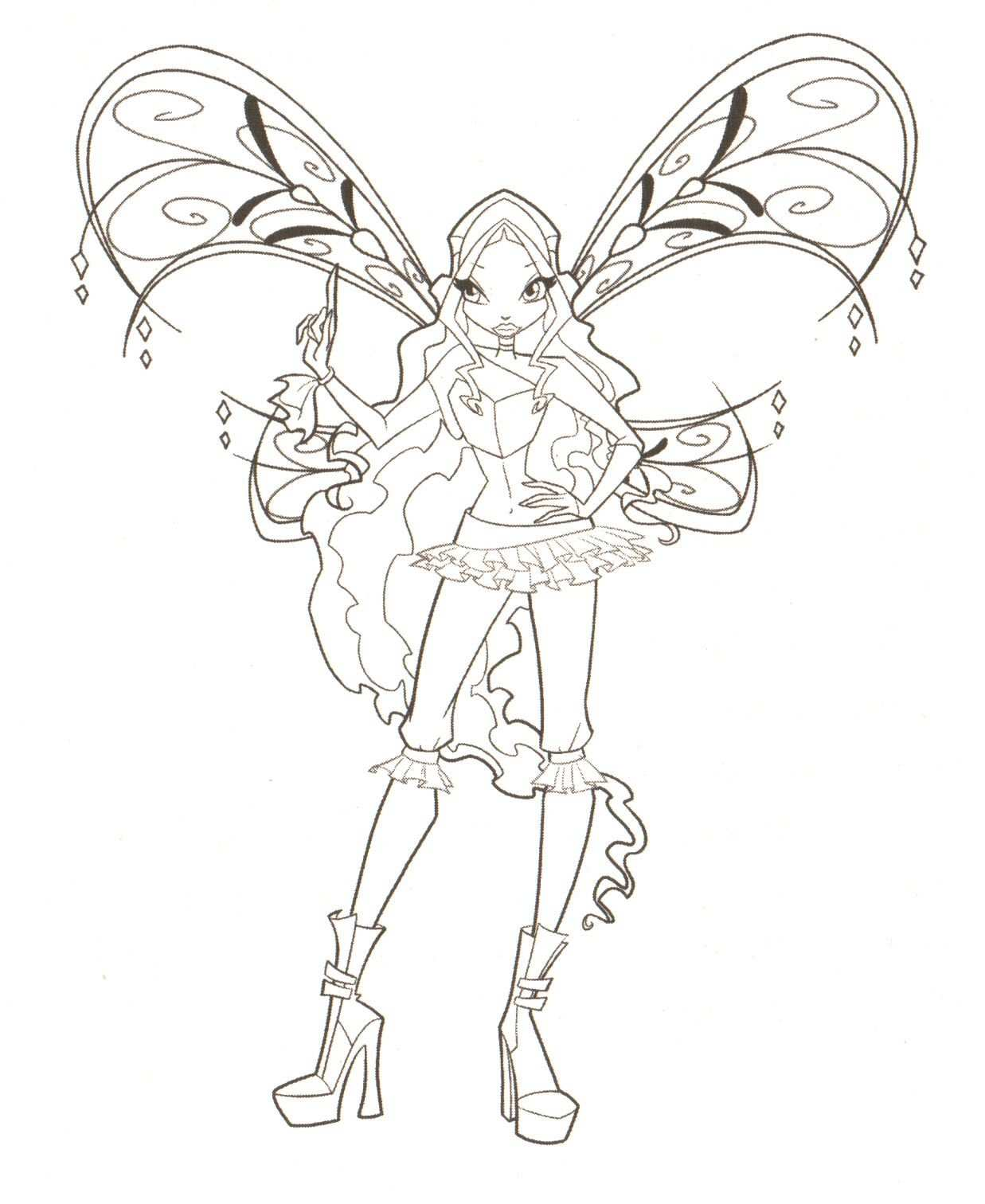 Fairies To Print And Color Winx Coloring Pages Free Coloring