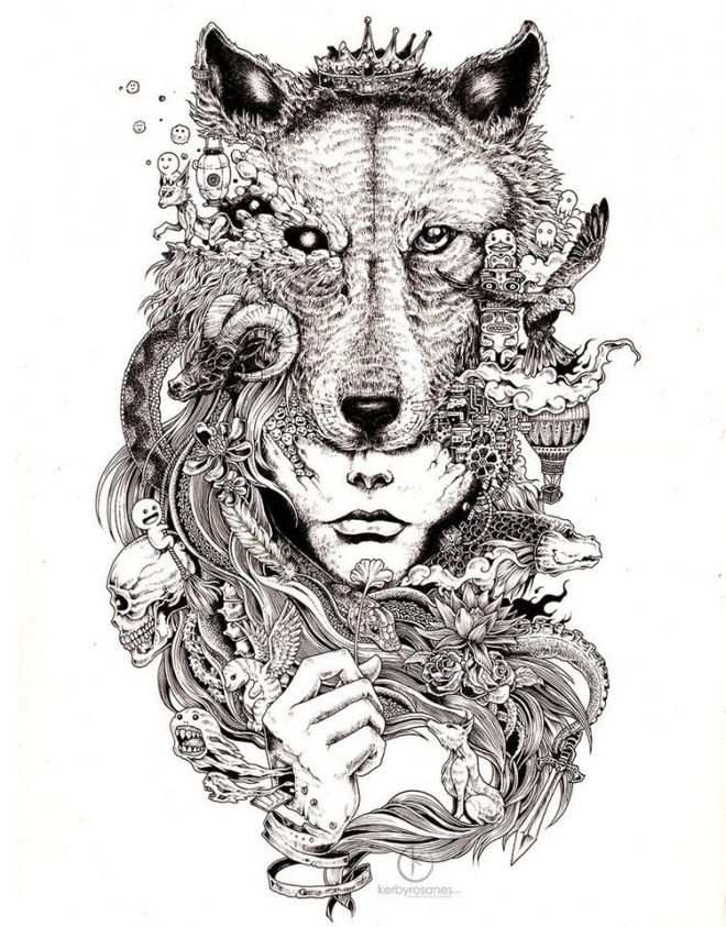15 Beautiful And Creative Mural Drawings Of Kerby Rosanes Tattoo