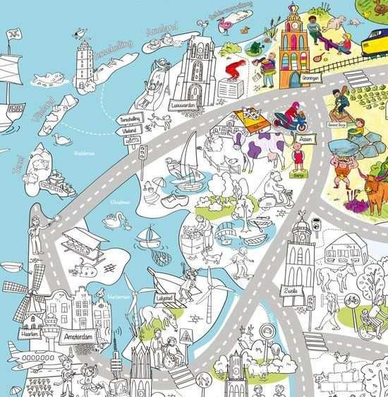 Very Mappy Nederland Xxl Speel Kleurplaat Van Nederland Voor