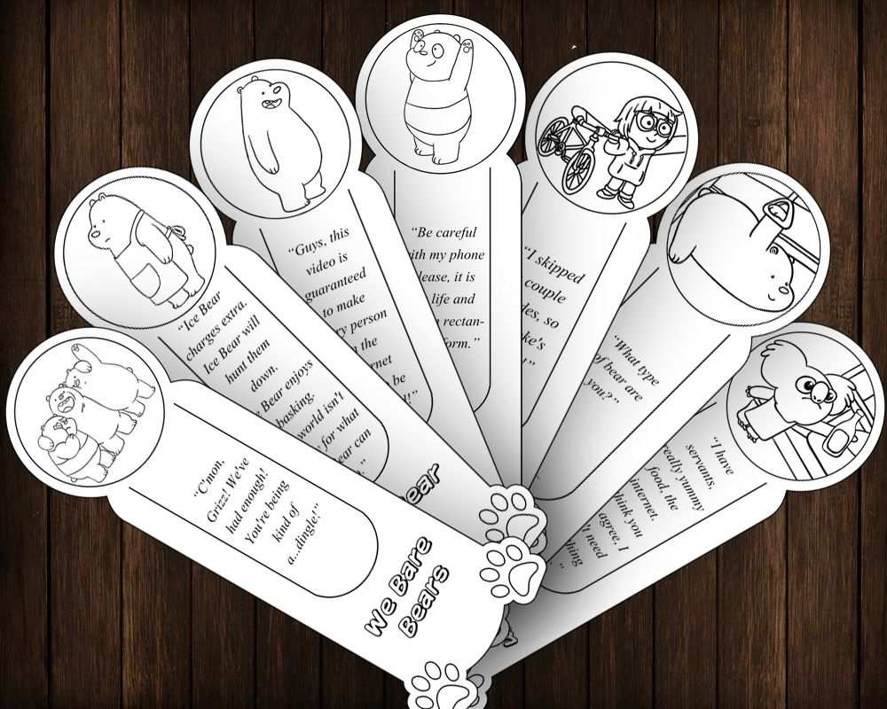We Bare Bears Diy Party Favor 7 Printable Outline Coloring
