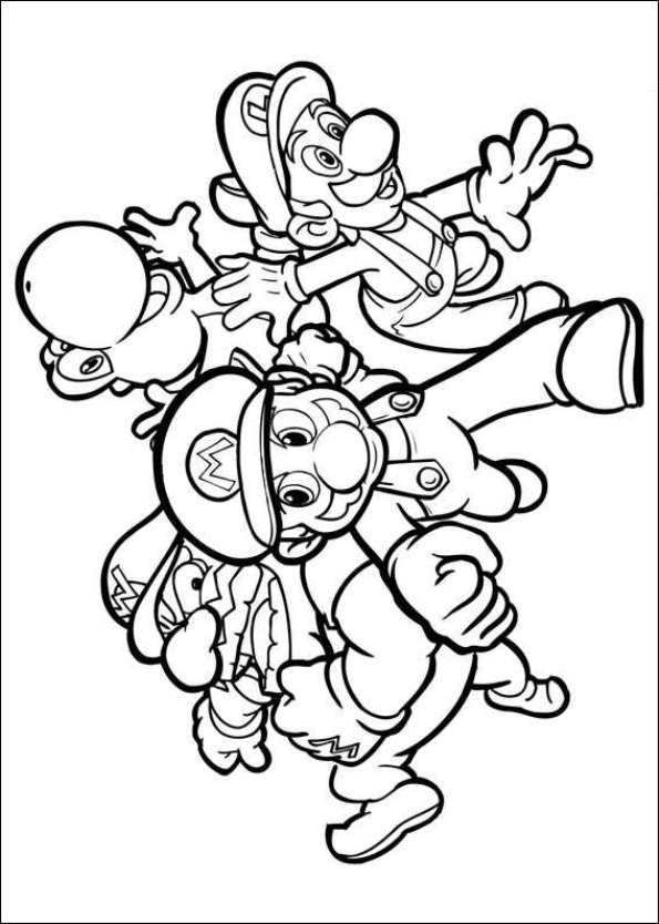 47 Disegni Da Colorare Di Super Mario Bros Con Immagini Pagine