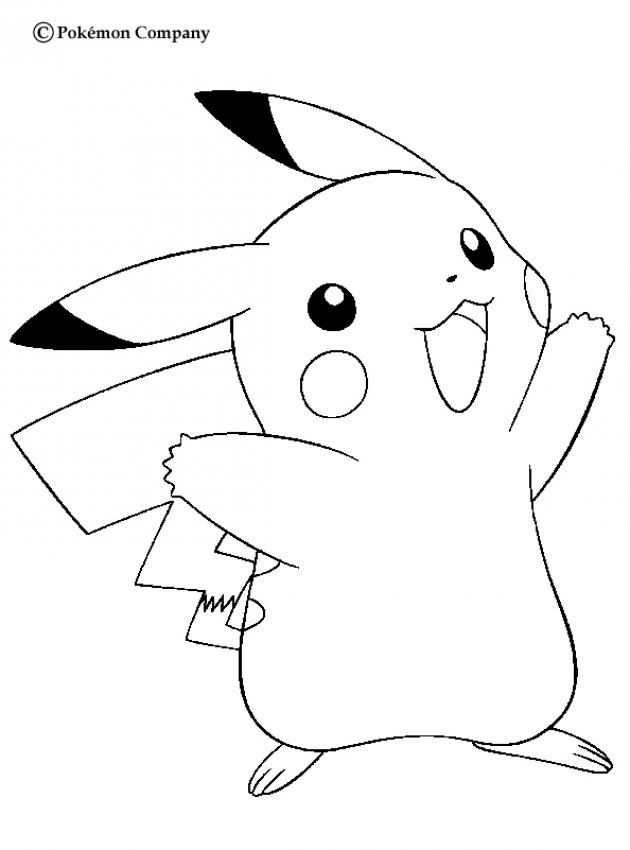 Happy Pikachu Pokemon Coloring Page More Eletric Pokemon Coloring