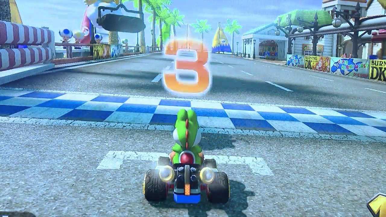 Mario Kart 8 Yoshi Offscreen Gameplay E3 2013 Youtube