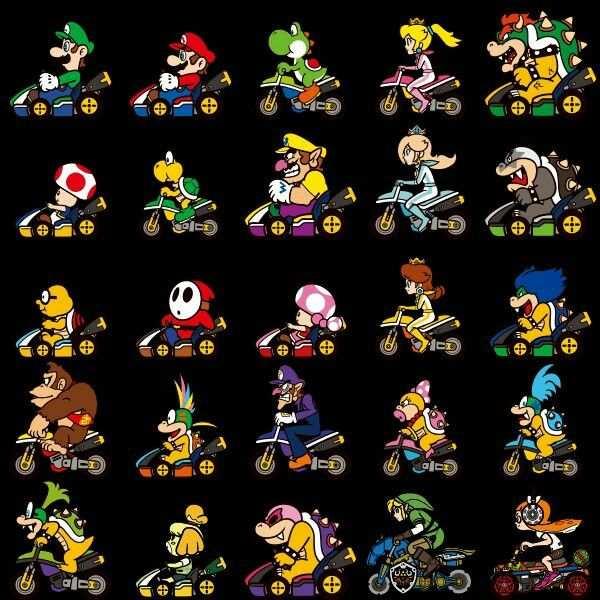 switch mario kart 8 characters