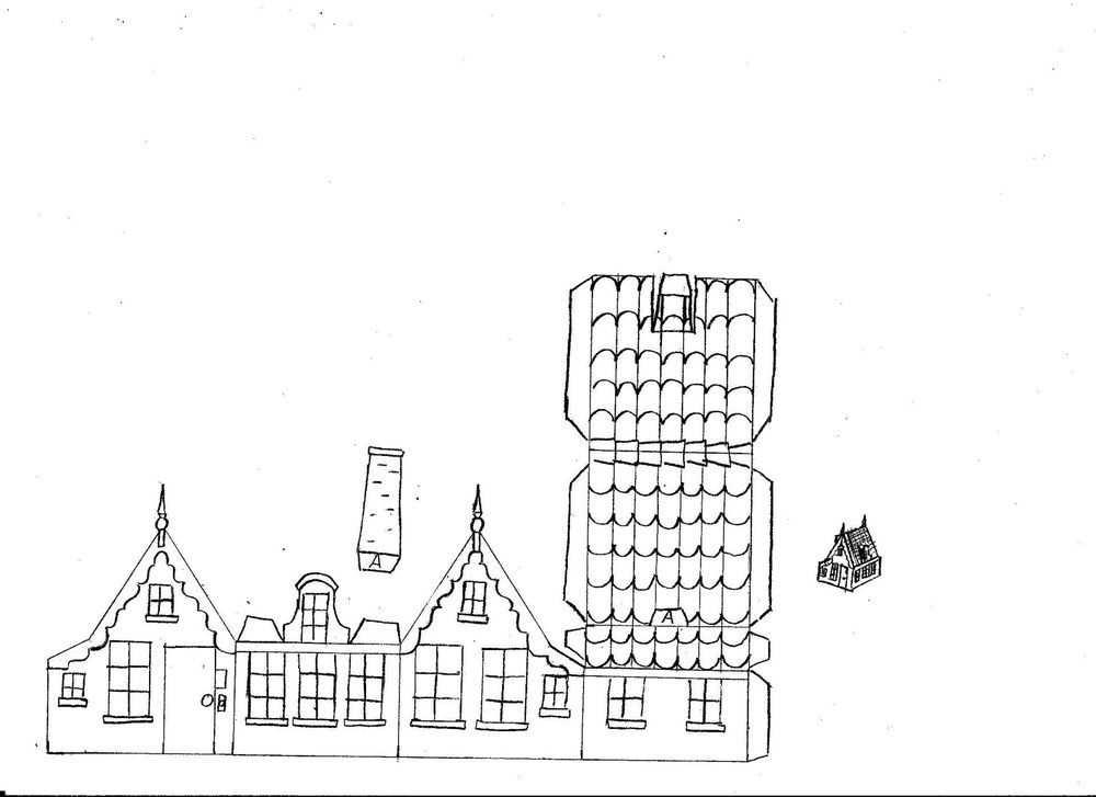 Bouwplaat017 Jpg Huisjes Oude Stad Zomerschool