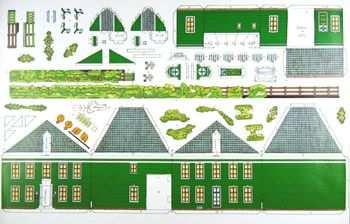 Burgemeestswoning Gerestaureerd Paper Models Paper Toys