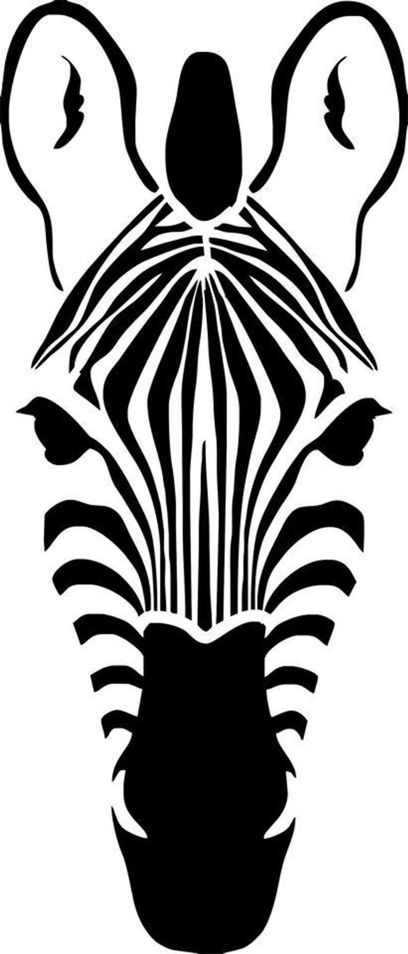 zebra hoofd kleurplaat