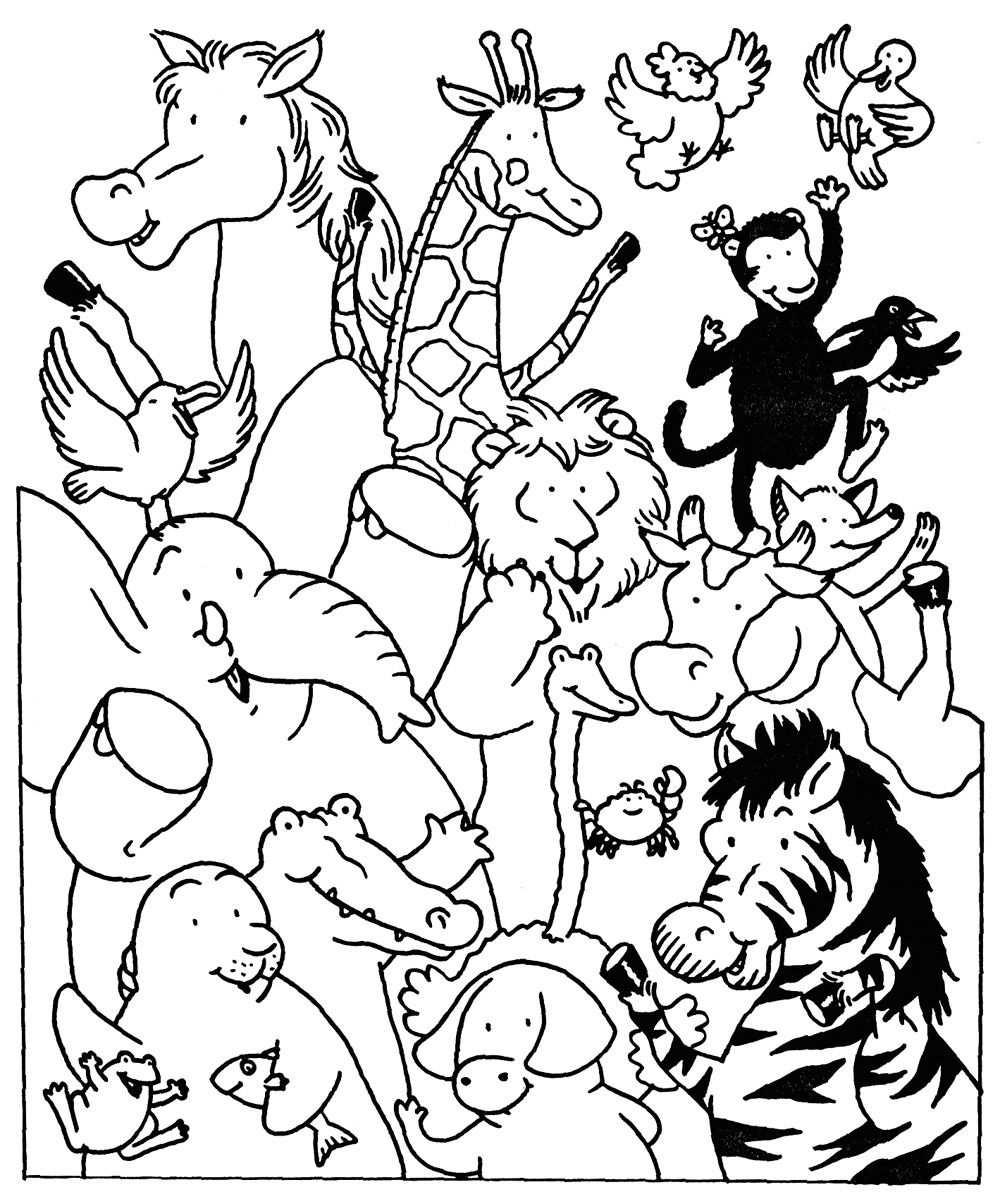 Coloriage Les Animaux Du Zoo Et Dessin A Colorier Les Animaux Du