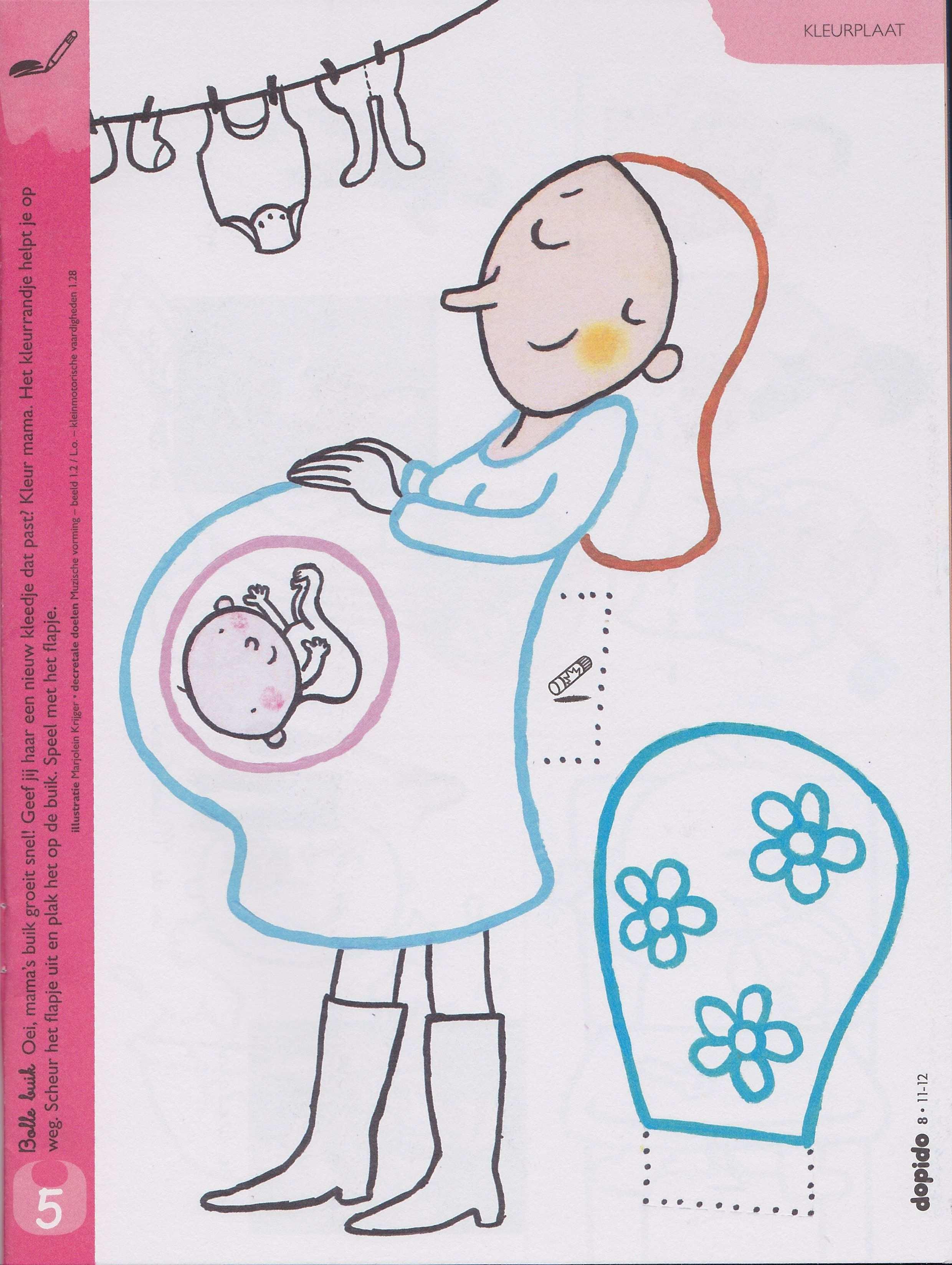 Knippen En Plakken Knutselen Thema Baby Thema Kleurplaten